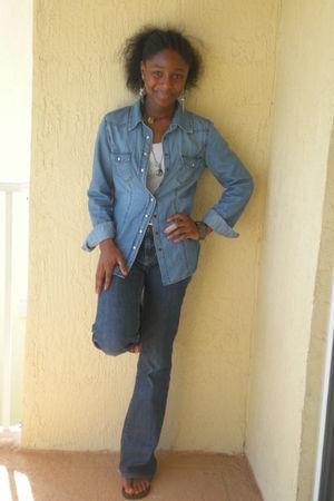 blue Charlotte Russe shirt - blue pants