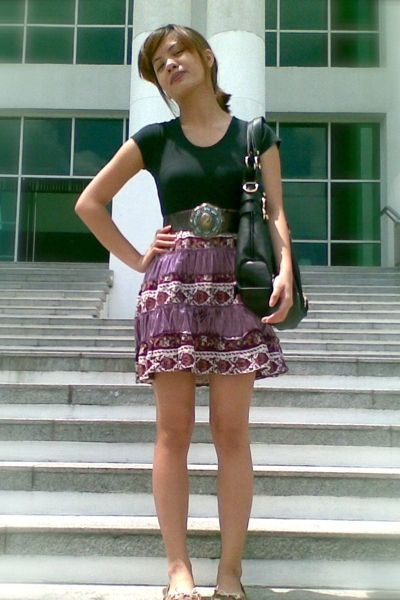 top - thrifted skirt - Charles & Keith - CMG shoes - People are People belt