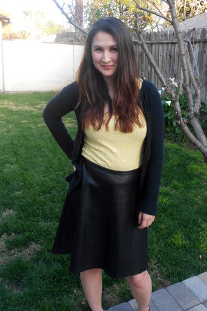 Target sweater - faux leather Kirna Zabete at Target skirt