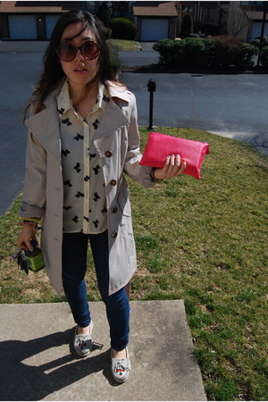 Forever 21 blouse - Michael Kors coat - Forever 21 wallet - Minnetonka loafers