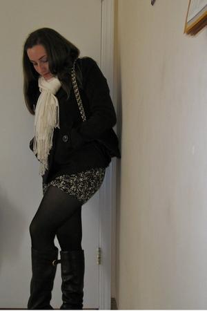 Steve Madden boots - Forever 21 tights - Forever 21 scarf - Forever 21 skirt - F