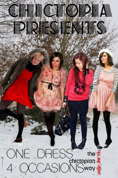 pink H&M dress - black brand dress - bubble gum floral dress - red H&M dress - b