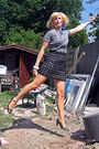 Black-free-people-skirt-gray-no-idea-t-shirt-brown-gallerys-shoes-blue-he