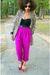 Red-zara-pants-purple-vintage-blouse-beige-vintage-cardigan
