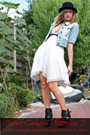 Black-tesenderloo-shoes-white-warehouse-dress-blue-only-jacket-black-ebay-