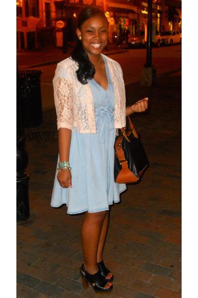 Light Blue Chambray H&m Dress