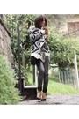 White-aztec-tally-weijl-blazer-black-black-zara-heels