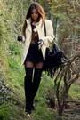 White-winter-white-mango-coat-black-fringe-polyvore-bag