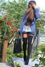 Off-white-tally-weijl-shorts-black-black-jeffrey-campbell-heels
