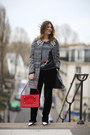 Heather-gray-andrea-turchi-coat-red-structured-pony-manurina-bag