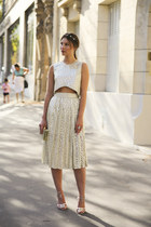 pleated skirt Sister Jane skirt - clutch River Island bag