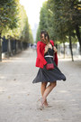 Asos-dress-red-mango-blazer-chain-manurina-bag-suede-via-maestra-pumps