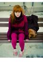 Magenta-bershka-sweater-pink-timberland-boots-magenta-h-m-scarf