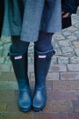 Black-h-m-coat-black-hunter-shoes-charcoal-gray-zara-sweater