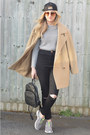 Camel-thrifted-coat-black-ebay-jeans-black-h-m-hat-black-ebay-bag
