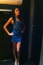 Blue-bershka-skirt-navy-bershka-top-eggshell-zara-heels