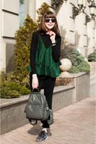 charcoal gray backpack sammydress bag - black skinny jeans Rosegal jeans