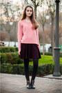 Anne-michelle-boots-bershka-sweater-bershka-skirt