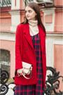 Crimson-chelsea-pull-bear-boots-maroon-checkered-sammydress-dress