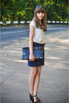 KAMENSKAKONONOVA bag - SIX sunglasses - pull&bear sandals - pull&bear skirt