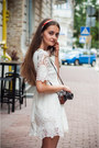 White-sheinside-dress-carrot-orange-pull-bear-sandals