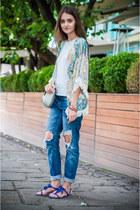 navy Zara jeans - silver H&M bag - silver Zara t-shirt