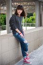 Navy-zara-jeans-heather-gray-parfois-sunglasses-gray-xu-sweatshirt