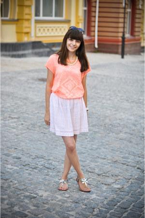Zara sandals - SIX sunglasses - Zara skirt - Stradivarius necklace