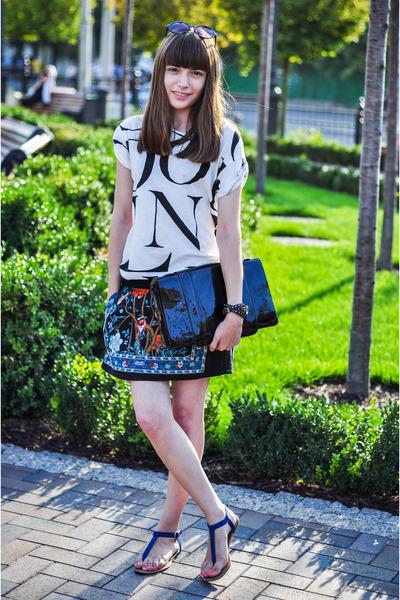 pull&bear sandals - KAMENSKAKONONOVA bag - SIX sunglasses - pull&bear skirt