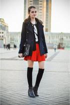 Zara jacket - H&M boots - pull&bear coat - KAMENSKAKONONOVA bag