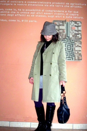 H&M hat - Max & Co - Diesel purse - Maile Patie boots