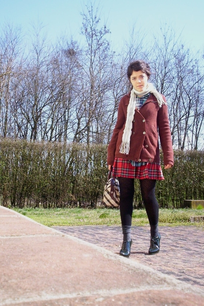 shirt - Zinco sweater - Pimkie skirt - Sisley shoes