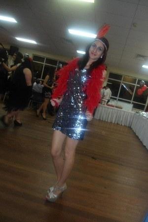 silver glitter zu heels