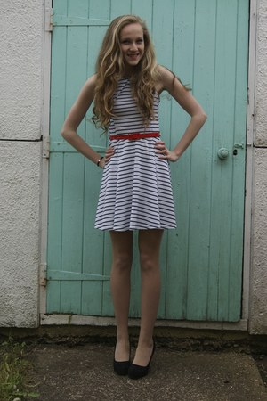 white striped Republic dress