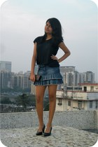 blue denim skirt skirt