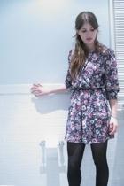 dress - H&M shoes - Zara purse