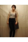 Beige-zara-top-black-talula-pants-brown-purse