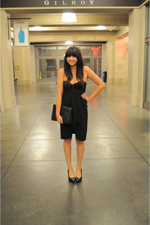 black strapless Vena Cava dress