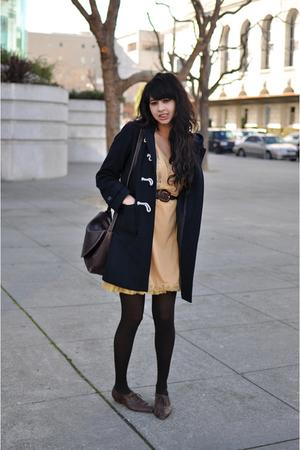 gold slip vintage dress