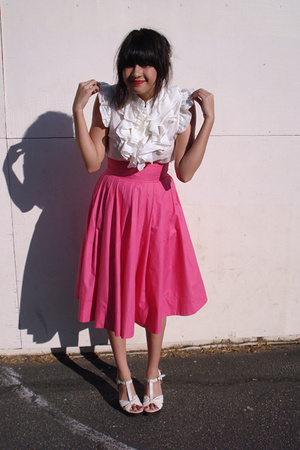 H&M skirt - forever 21 top - Zara shoes