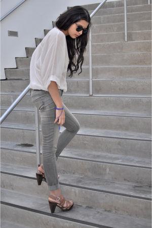 silver Genetic Denim jeans