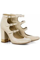 chloe triple strap gold tipped pumps... or not?