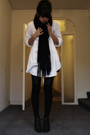 H&M dress - H&M scarf - thrifted shoes