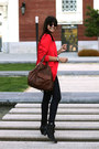 Navy-item-denim-jeans-red-whyred-blazer-dark-brown-rebecca-minkoff-bag