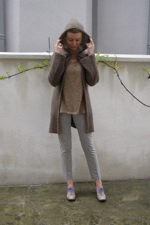 light brown nissa cardigan - camel Bik Bok sweater - silver Lefties pants