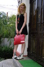 Black-jennyfer-dress-red-leather-lapbag-krussel-bag