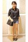Black Patent Gibi Heels, Black Leather Prada Bags, Navy Cotton On ...