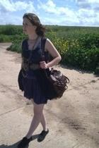 Ebay dress - Urban Outfitters purse - Vertigo dress