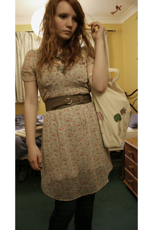 H&amp;M dress - country casuals belt - kate sutton purse
