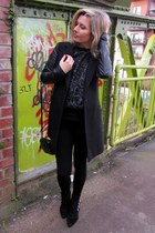 Stradivarius coat - Zara shoes - Zara jumper